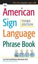 The American Sign Language Phrase Book Pdf/ePub eBook