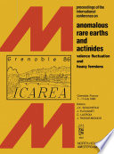 Anomalous Rare Earths And Actinides Book PDF