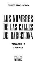Los nombres de las calles de Barcelona