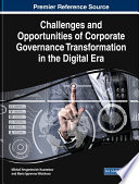 Challenges and Opportunities of Corporate Governance Transformation in the Digital Era Book