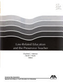 Law related Education and the Preservice Teacher
