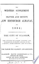 Oliver   Boyd s new Edinburgh almanac and national repository   With  Western suppl Book