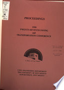 Proceedings of the ... Paving and Transportation Conference  , Bände 27-29