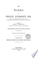 The Works of Philip Lindsley ...: Miscellaneous discourses and essays