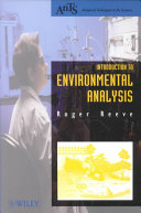 Introduction to Environmental Analysis
