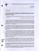 Learning from LeapFrog