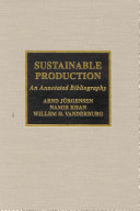 Sustainable Production Book