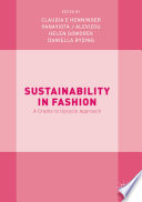 Sustainability in Fashion Book