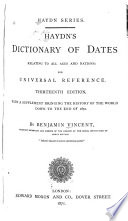 Haydn s Dictionary of Dates