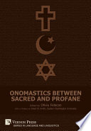 Onomastics between Sacred and Profane Book