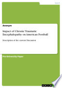 Impact of Chronic Traumatic Encephalopathy on American Football Book