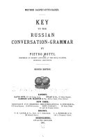 Key to the Russian Conversation grammar