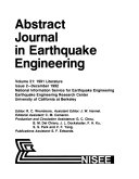 Abstract Journal in Earthquake Engineering Book