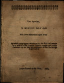 Two Speeches of George Earl of Bristol  with Some Observations Upon Them