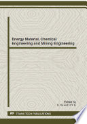 Energy Material  Chemical Engineering and Mining Engineering