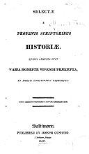 Selectae E Profanis Scriptoribus Historiae