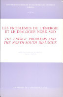 Pdf Energy Problems and the North-South Dialogue Telecharger