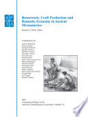 Archeological Papers of the American Anthropological Association, Housework