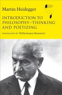 Introduction to Philosophy  thinking and Poetizing Book