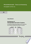 Architecture of Interoperable Information Systems Book