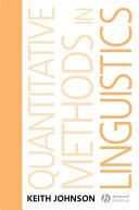 Quantitative Methods In Linguistics