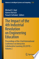 The Impact Of The 4th Industrial Revolution On Engineering Education Book PDF