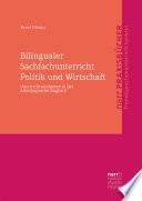 Bilingualer Sachfachunterricht Politik und Wirtschaft Book