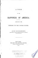 A Poem on the Happiness of America