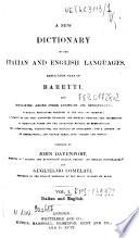 Baretti s Italian Dictionary Book