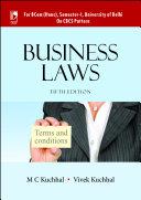 Business Laws (For B.Com. (Hons), Sem-I, University of Delhi) - 5th Edition Book