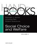 Handbook of Social Choice and Welfare