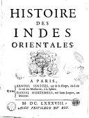 Histoire des Indes Orientales [Souchu de Rennefort]