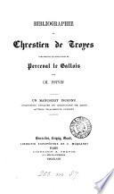 Bibliographie de Chrestien de Troyes  Comparaison des manuscrits de Perceval le Gallois