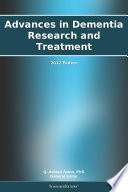 Advances in Dementia Research and Treatment  2012 Edition