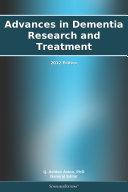 Advances in Dementia Research and Treatment: 2012 Edition Pdf/ePub eBook