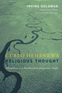 cubeo hehnewa religious thought wilson peter goldman irving