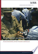 From War to the Rule of Law