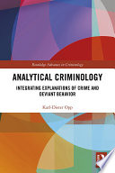 Analytical Criminology