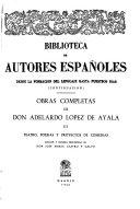 Obras Completas de Don Adelardo López de Ayala