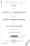 Report of the Joint Commission Relative to the Preservation of the Fisheries in Waters Contiguous to Canada and the United States