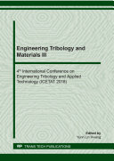 Engineering Tribology and Materials III