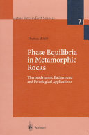 Phase Equilibria In Metamorphic Rocks Book PDF