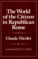 The World of the Citizen in Republican Rome
