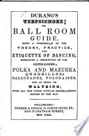 D  s Terpsichore  or ball room guide  etc Book