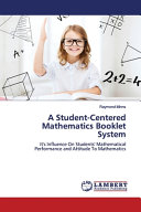 A Student-Centered Mathematics Booklet System