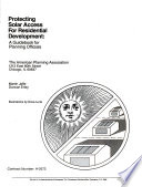 Protecting Solar Access For Residential Development A Guidebook For Planning Officials