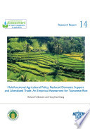 Multifunctional agricultural policy  reduced domestic support and liberalized trade  an empirical assessment for Taiwanese rice