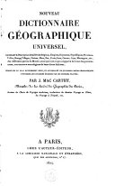 Nouveau dictionnaire géographique universel