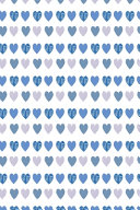 Hearts Wallpaper Notebook Pale Blue
