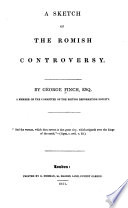 A Sketch of the Romish Controversy Book